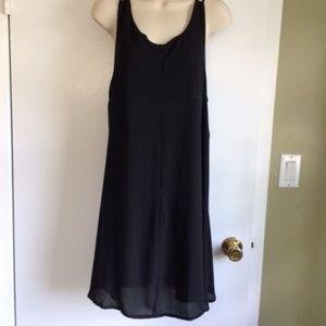 NWT Scoop Neck Halter Little Black Dress M